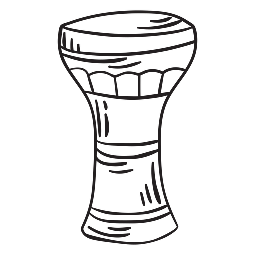 Membranophone musical instrument goblet stroke