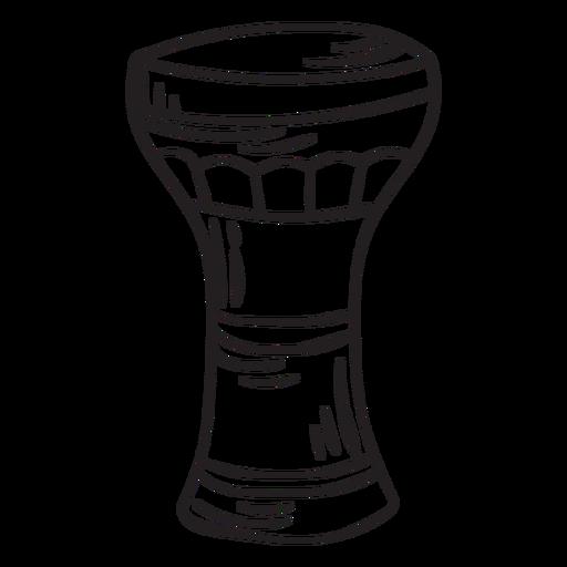 Trazo de copa de instrumento musical membran?fono