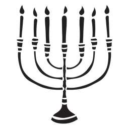 Menorah hanukkah holder candles black