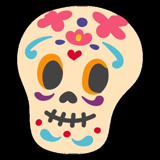 Mexican calavera skull flat