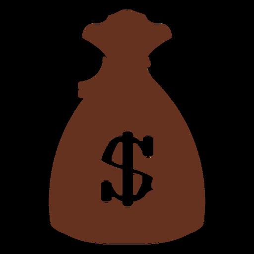 Money bag classic western outline illustration Transparent PNG