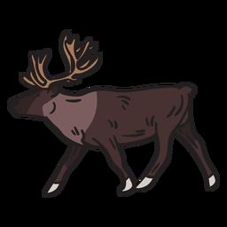 Ilustración de astas de animales alces