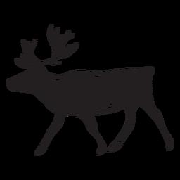 Alce animal negro caminando ilustración