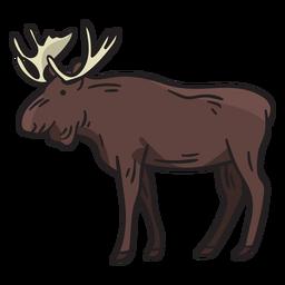 Ilustração de veado alce
