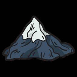 Ilustração popular icônica de montanha matterhorn