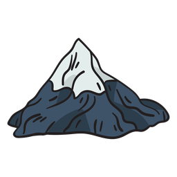 Mountain matterhorn iconic popular illustration