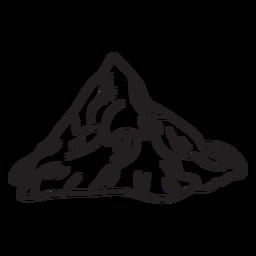Montaña alpes suizos trazo icónico