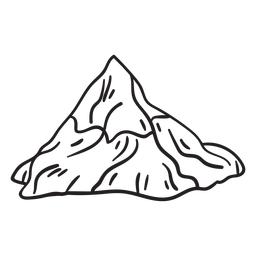 Mountain swiss alps iconic stroke