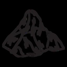 Trazo incoloro simple montaña