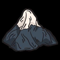 Ilustración icónica de la montaña nevada