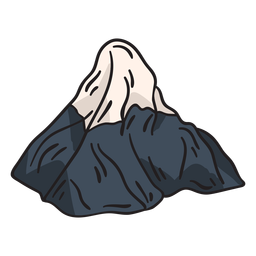 Mountain snowcap iconic illustration