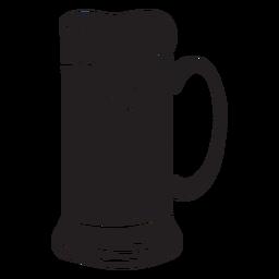 Krug Bier voll schwarz