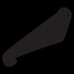 Ilustración de kantele negro de sonido de música