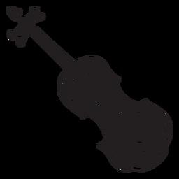 Instrumento musical violino irlandês preto