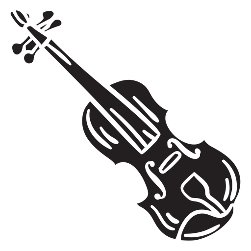 Musical instrument fiddle irish black Transparent PNG