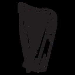 Harpa celta de instrumento musical