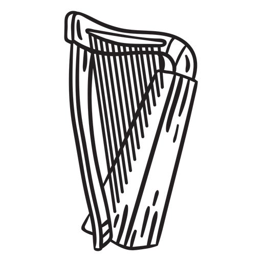 Musical instrument celtic harp Transparent PNG