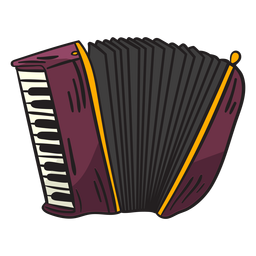 Musical instrument schwyzerörgeli illustration