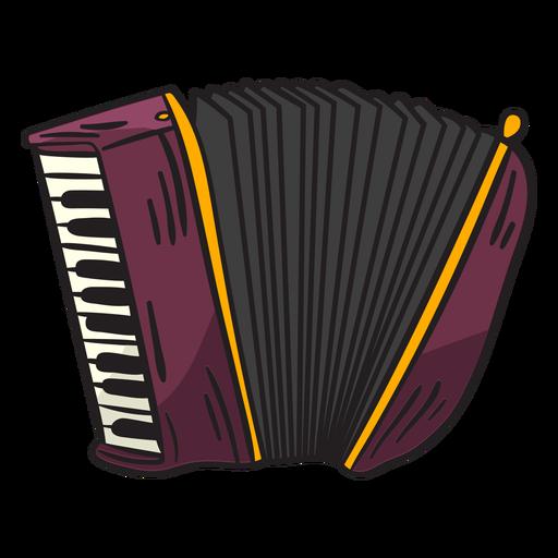 Ilustración del instrumento musical schwyzerörgeli Transparent PNG