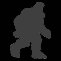 Misteriosa bestia mítica bigfoot negro