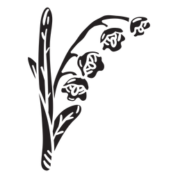 Nationale Blume Finnland Illustration