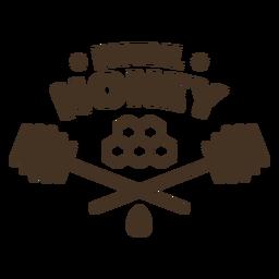Insignia de panal de miel natural
