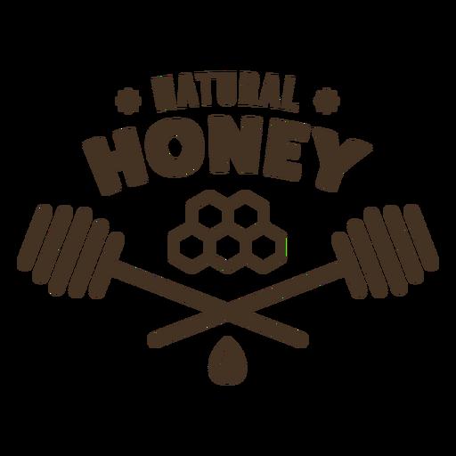 Natural honey honeycomb badge Transparent PNG