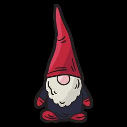 Ilustración mitológica del folclore nisse gnome