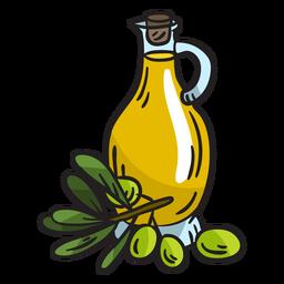 Ilustração caseira de azeite