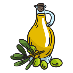 Olive oil homemade illustration