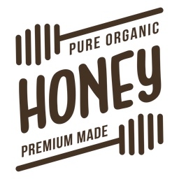Distintivo de mel orgânico puro premium