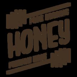 Insignia de miel premium pura orgánica
