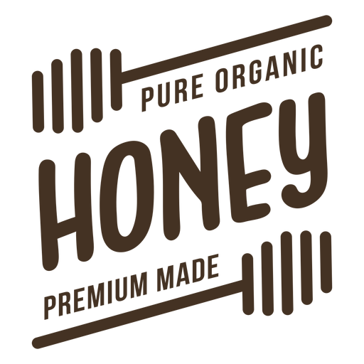 Insignia de miel premium pura orgánica Transparent PNG