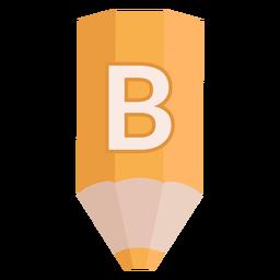 Lápiz alfabeto b banner