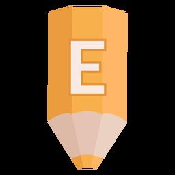Bandera de lápiz alfabeto e