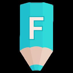 Lápis alfabeto f banner