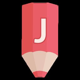 Banner de lápiz alfabeto j