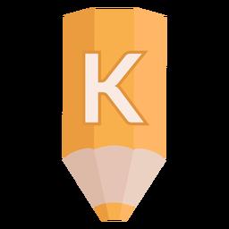 Bandera de lápiz alfabeto k
