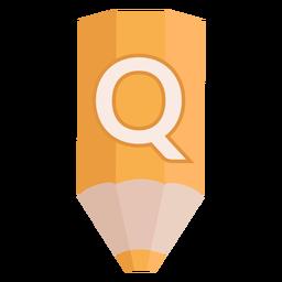 Bandera de lápiz alfabeto q