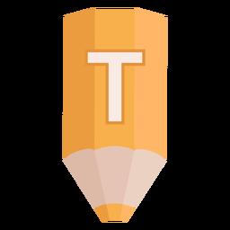 Lápiz alfabeto t banner