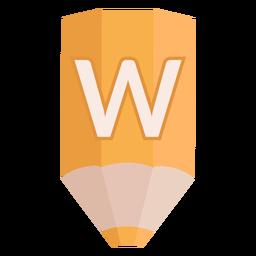 Bandera de lápiz alfabeto w