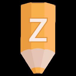 Bleistift Alphabet z Banner