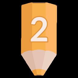 Pencil number 2 banner