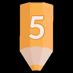 Pencil number 5 banner