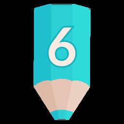Pencil number 6 banner