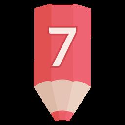 Pencil number 7 banner