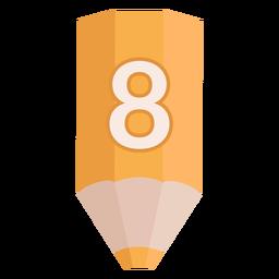Pencil number 8 banner