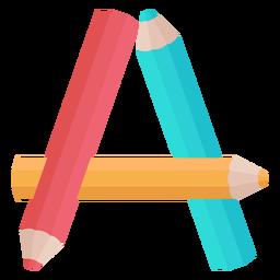Alfabeto de decoração de lápis um