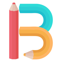 Pencils decor alphabet b
