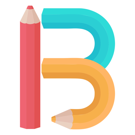 Lápices decoración alfabeto b Transparent PNG